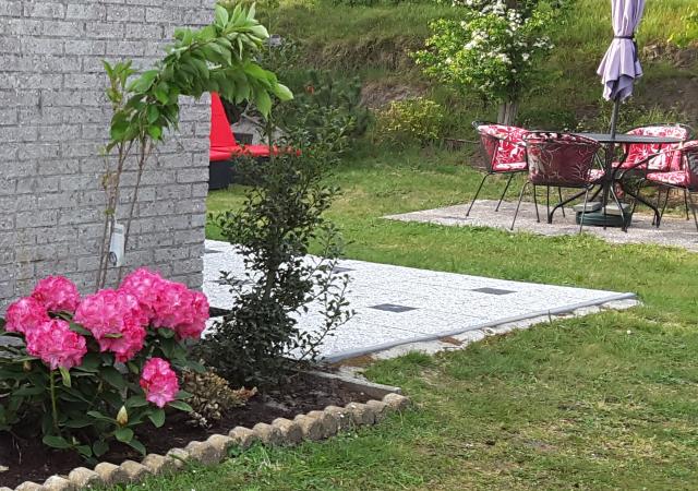 Afbeelding tuin rondom bungalow